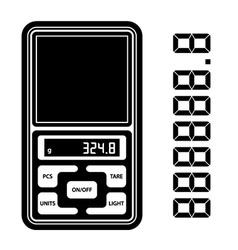 portable digital weight scale black symbol vector image