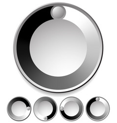 Preloader buffer shapes or dials with knobs vector