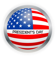 presidents day card national american vector image