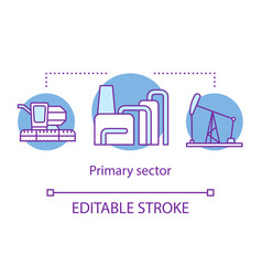 Primary sector concept icon product fabrication vector