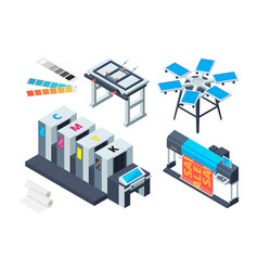 print house machine digital laser printer inkjet vector image
