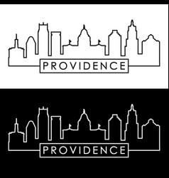 providence skyline linear style editable file vector image