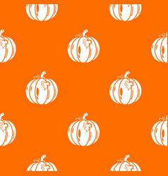 pumpkin pattern orange vector image