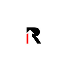 r letter arrow logo vector image
