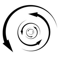 Rotation revolve torsion concept circular arrow vector