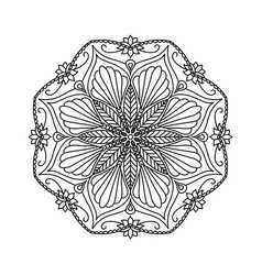 round decorative floral mandala element on white vector image