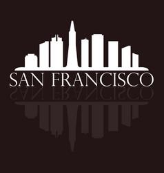 san francisco skyline vector image