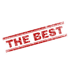Scratched textured the best stamp seal vector