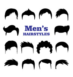 Set mens hairstyles design constructor with vector