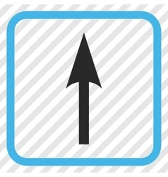 Sharp Arrow Up Icon In a Frame vector