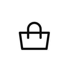 Shopping bag line style icon vector