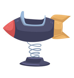 Space ship or rocket swing playground for kids vector