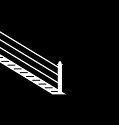 Stairs against a black wall vector