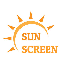 sun screen logo flat style vector image