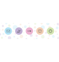 Switch icons vector