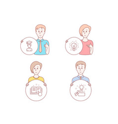 technical documentation idea and student icons vector image