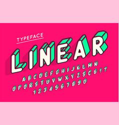 Trendy display font popart design alphabet vector