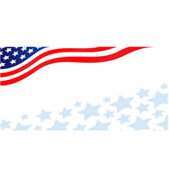 usa flag corner patriotic banner with stars vector image
