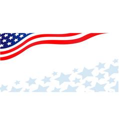 Usa flag corner patriotic banner with stars vector