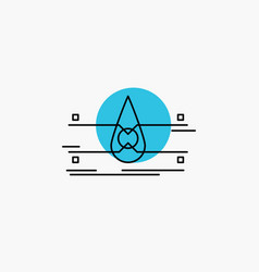 Water monitoring clean safety smart city line icon vector
