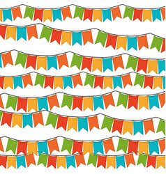 White background with set of colorful festoons in vector