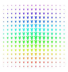 yuan shape halftone spectrum effect vector image