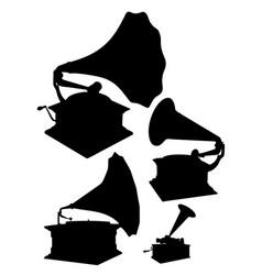 gramophones set vector image vector image