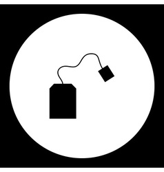 simple teabag for making tea silhouette icon eps10 vector image vector image