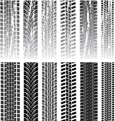 tyre prints vector image vector image