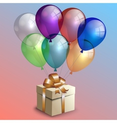 abstract birthday party card with gift box vector image