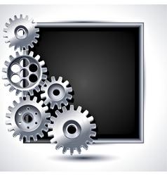 mechanical gears vector image