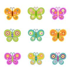 Retro butterflies vector