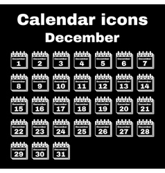 The calendar icon December symbol Flat vector image vector image