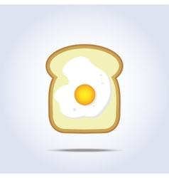 White bread toast icon with egg vector image vector image