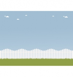 white picket fence vector image vector image
