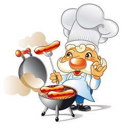 bbq chef vector image vector image
