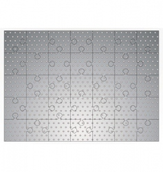 silver metal jigsaw puzzle vector image vector image