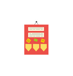 flat style classroom announcement board icon vector image