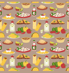 mexican traditional dish with meat mexico food vector image