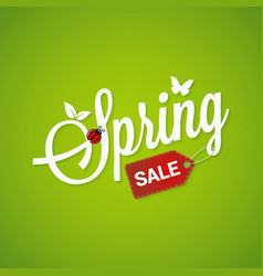 Spring Sale Lettering Design Background vector image vector image