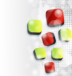 Abstract squares background for your advertise vector