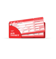air ticket travel sign in red vector image