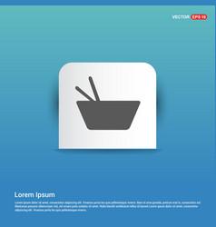 Asian food icon - blue sticker button vector