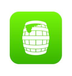 barrel of beer icon digital green vector image