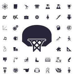Basketball basket icon vector