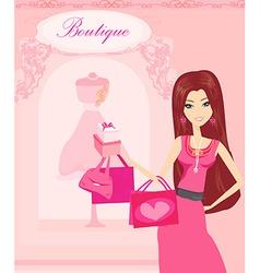beautiful women Shopping vector image