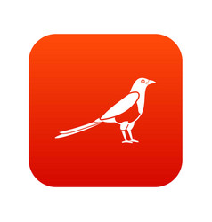 Bird magpie icon digital red vector