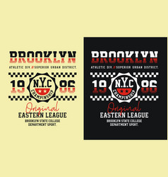brooklyn typography graphics vector image