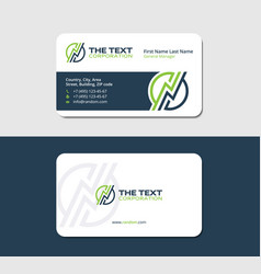 Business card for energy suppliers vector