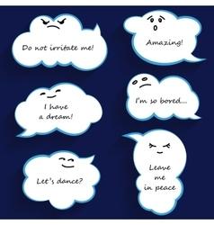 Cartoon cloud bubbles vector image vector image